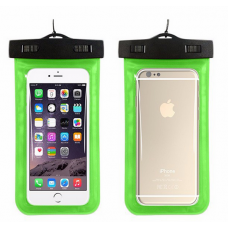 Waterproof phone carrying case - green