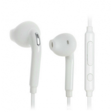Wired headphones for mobile phone - white