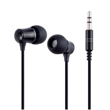 Wired headphones for mobile phone - black