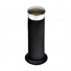 "4-1/2"" Rubber Handlebar Grip with Chrome End Cap"